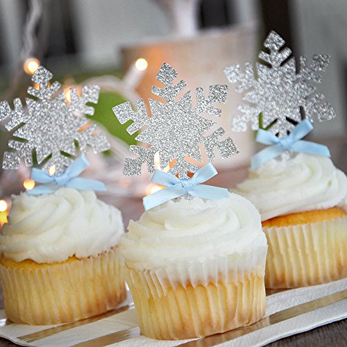Frozen Snowflake Cupcake Toppers 12CT. Winter Onederland. ()