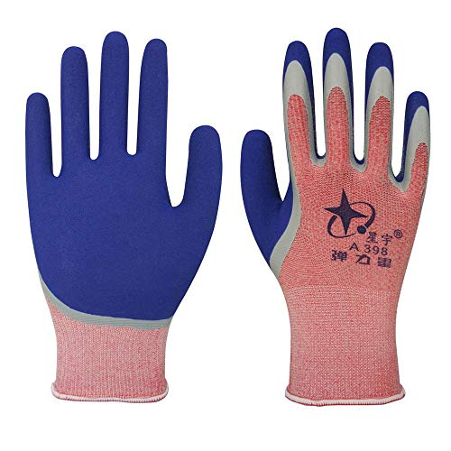 MYFGBB 12 Pairs of PU Coated Nylon Work Gloves Gardening Construction Mechanics Matte Soft wear-Resistant Elastic impregnated Nylon PU Safety Work - Mechanics Gloves 710
