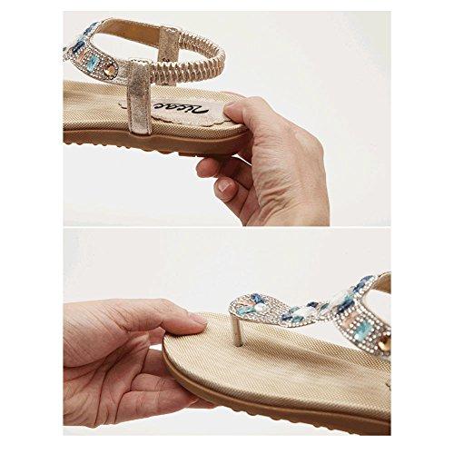 På Sommer Zicac Kvinners Design Flop Flip Sandaler Moderne Gull Tå Slip R1xBxwq7Z