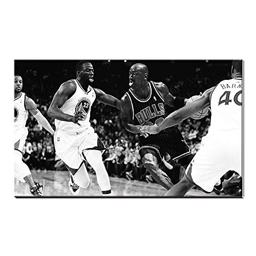(Karen Max Black and White Michael Jordan Wings Air Jordan Gifts for Home Decor Basketball Sports Poster Oil Painting Canvas Prints Pictures Artwork)