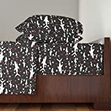 Roostery Shark 3pc Sheet Set Card Sharks (Black) by Robyriker Twin Sheet Set made with