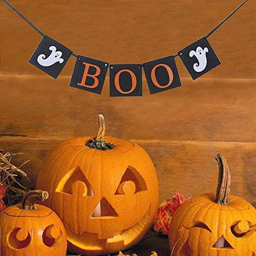 Boo Banner Ghost Decor - halloween party decorations - (Cute Halloween Photos)