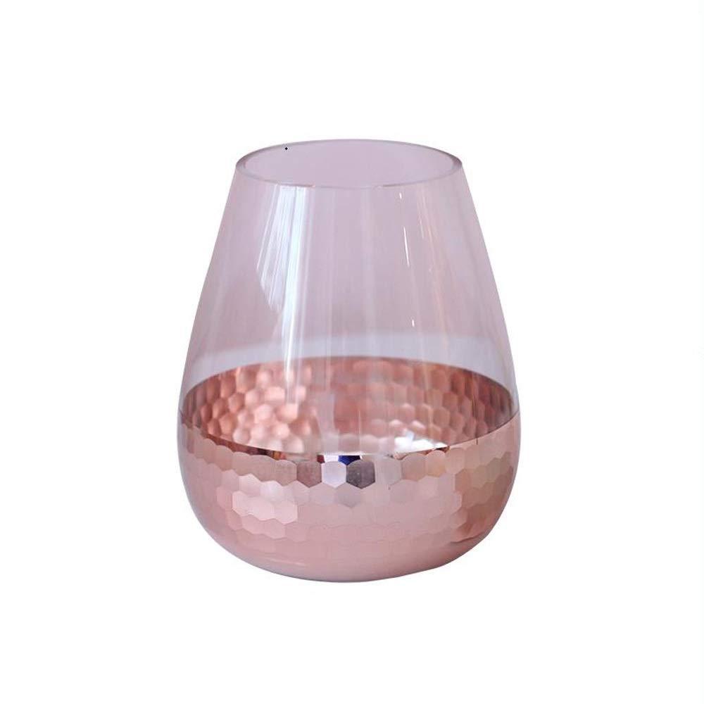 色ガラス花瓶用花緑植物結婚式の植木鉢装飾ホームオフィスデスク花瓶花バスケットフロア花瓶 B07R6LC2D3
