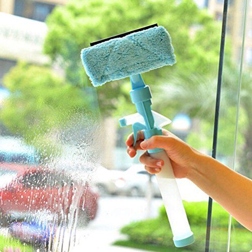 (Window Brush - Airbrush Glass Wiper Window Brush Cleaner Car Wizard Washing Magnetic Multifunction Spray Type - Tool Brush Wiper Drill Wizard Squeegee Glass Window Wtih Snow Cleaner Scraper)