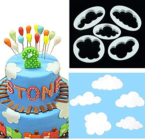 4 Pcs Cakes Decorating Tools DIY Fondant Butterfly Mold - 2