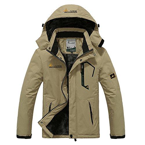 LEIT YFF Los Hombres Trajes de Chaquetas de esquí Snowboard Senderismo Alpinismo Camping Outwear Abrigo Impermeable de Invierno: Amazon.es: Ropa y ...