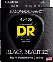DR Strings Bass Strings, Black Beauties - Extra-Life, Black-Coated