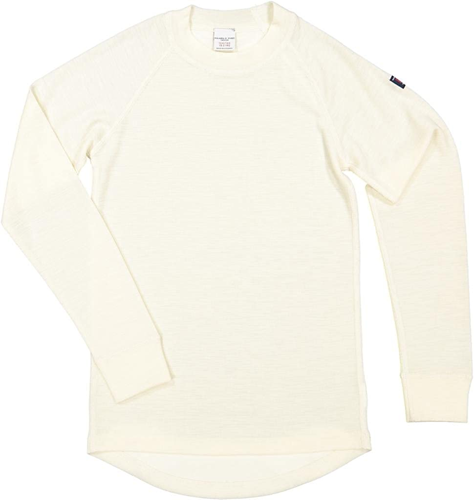 Polarn O. Pyret Winter White Merino Top (6-12YRS)