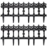 #1: Trenton Gifts 6 PC Garden Fence Border Edge Sections Edging Flower Bed Barrier Decor Patio Fences