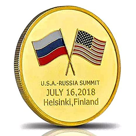 Image result for Coin Commemorating Trump-Putin Summit