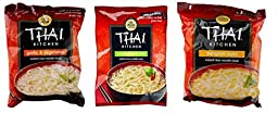 Simply Asia Thai Kitchen Instant Rice Noodle Soup 3 Flavor 9 Bag Variety Bundle: (3) Garlic Vegetable, (3) Lemongrass Chili, and (3) Bangkok Curry, 1.6 Oz Ea (9 Tot)