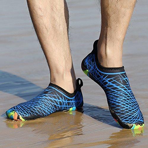 Damen Wasserschuhe Herren im Blau für Schwarz Freien SITAILE Aquaschuhe B Kinder Schuhe Atmungsaktiv Schwimmschuhe Familienaktivitäten Wassersport 0d5pPZ