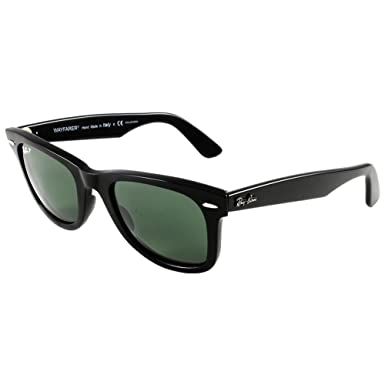 e7faf2f3a Ray-Ban - RB2140 (Original Wayfarer) - Black Frame-Crystal Green Polarized