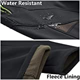 Susclude Men's Outdoor Hiking Pants Soft Shell