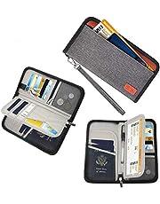 Billetera para pasaporte para viajes de Sepper, billetera portátil, con protección RFID, organizador boletos y tarjetas con la cremallera para mujeres y hombres