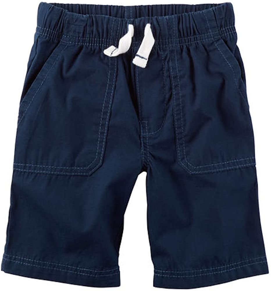Carters Little Boys Navy Pull-On Canvas Shorts Size - 2T