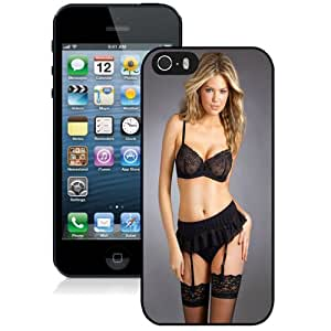 Popular And Durable Designed Case For iPhone 5 5s With Kate Upton Black Lace Stockings Phone Case