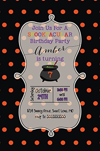 Customized - Halloween Invitation - Birthday, Halloween Party, October (First Birthday Halloween Party Invitations)