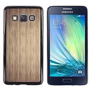 Caucho caso de Shell duro de la cubierta de accesorios de protección BY RAYDREAMMM - Samsung Galaxy A3 - Texture Stripes