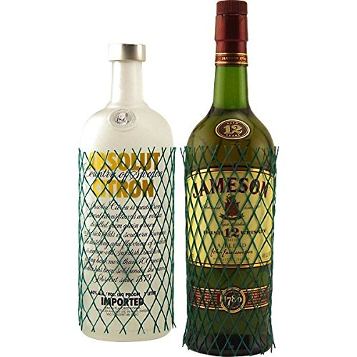 (Protective Webbed Mesh Liquor & Wine Bottle Sleeves - Box of)