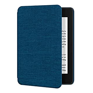 Ayotu Fabric Case for Waterproof Kindle Paperwhite 10th Gen 2018 - Thinnest&Lightest Smart Cover with Auto Wake/Sleep - Support Back Cover adsorption(not fit new kindle 10th 2019),K10 A-Blue