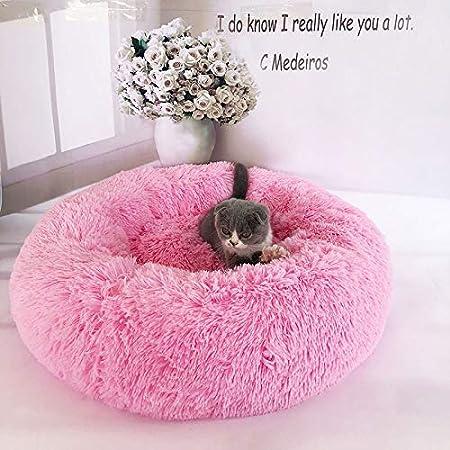Lanceasy Felpa Donut Cuddler Gatos Cama Cama del Perro de la Felpa Caliente del Perrito de Estera del Animal dom/éstico