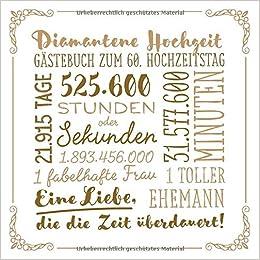 Diamantene Hochzeit Gästebuch Zum 60 Hochzeitstag