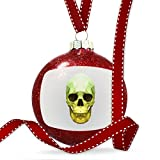 Christmas Decoration Low Poly Animals Modern design Green Skull Ornament