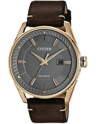 Citizen Mens Eco-Drive Leather Strap Watch