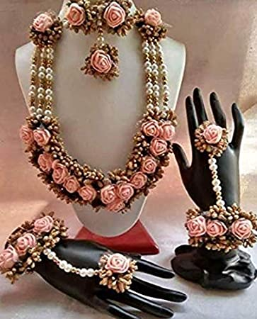 Mayoo Flower Jewellery Set For Haldi Baby Shower Mehndi Godbharai