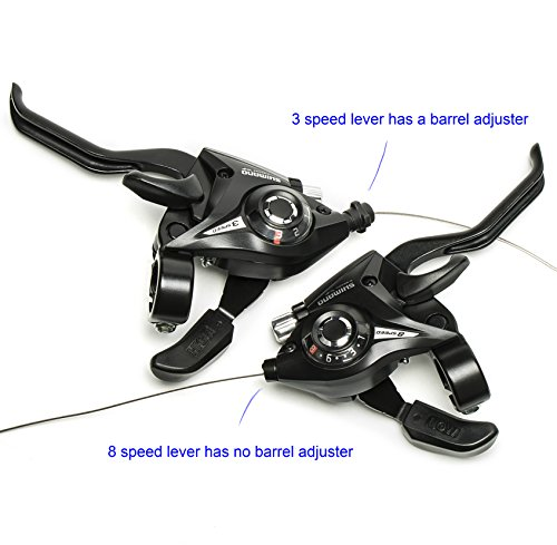 Shimano ST-EF51 3x8 Speed Shifter Brake Lever Combo With Shift Cable by Top-bike (Image #1)