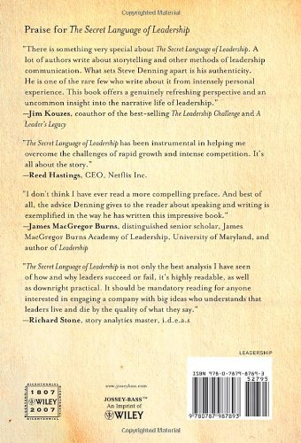 The Secret Language of Leadership: How Leaders Inspire Action Through Narrative by Jossey-Bass