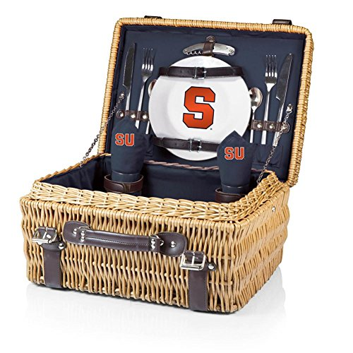 (NCAA Syracuse Orange Champion Picnic Basket with Deluxe Service for Two, Navy)
