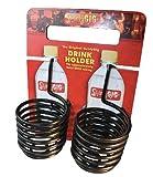 SwirlyGig SG1200 II Drink Holder for 1 Tubing, Black 2-Pack