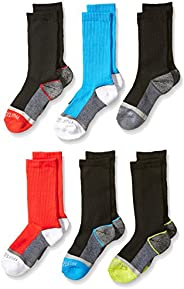 Fruit of the Loom boys 6 Pack Sport Crew Socks Athletic Socks