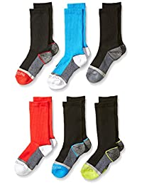 Fruit of the Loom Big Boy's 6 Pack Sport Crew Socks