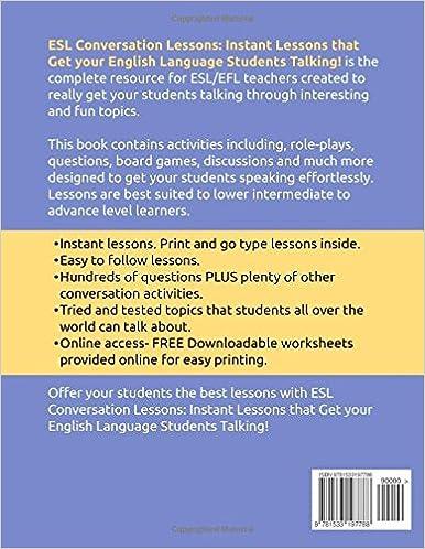 Amazon.com: ESL Conversation Lessons: Instant Lessons that Get ...