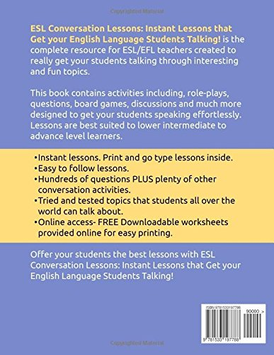 Amazon.com: ESL Conversation Lessons: Instant Lessons that Get ...