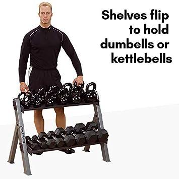 Body-Solid Kettlebell and Dumbbell Rack GDKR100