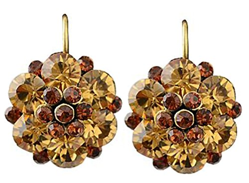 SunIfSnow Beautiful Girls Coquettish Flower Key personality Earrings (Navy White Earings)