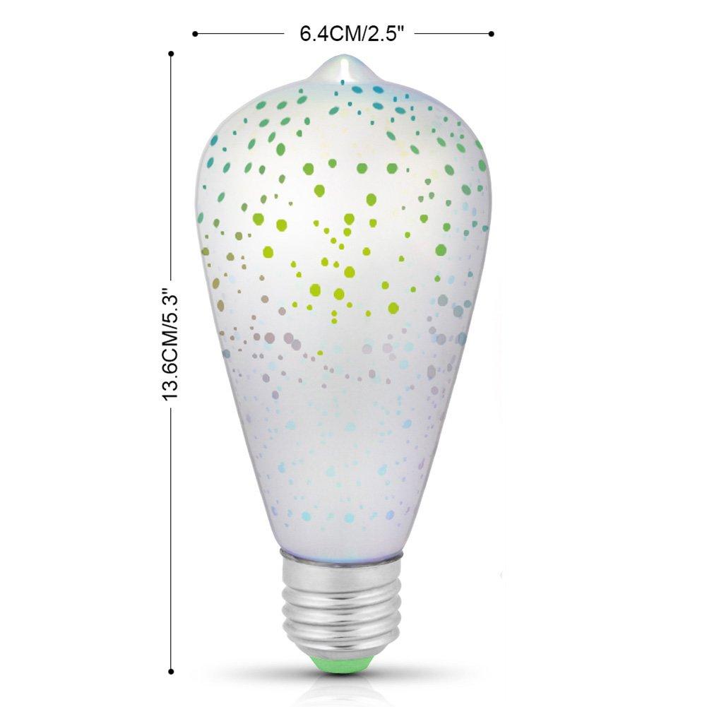 ZeHui E27 4W 85-265V Firework Bulb Decorative Lamp for Festival Parties by Zehui