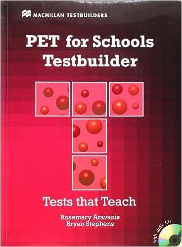 PET for Schools Testbuilder [With CDROM] (MacMillan Testbuilders) by Rosemary Aravanis (2011-01-01)
