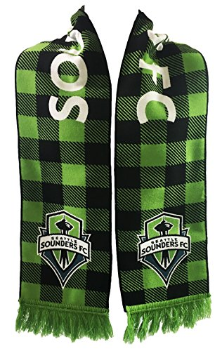 RUFFNECK MLS Seattle Sounders FC Woven Flannel Scarf, One Size, Green