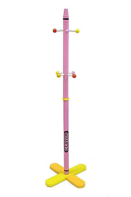 Kiddi Style Perchero Pie Infantil - Madera - Par Ninos -Diseño de ceras de colores