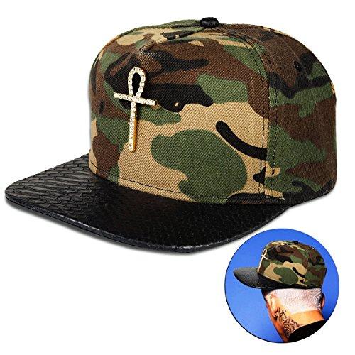 Egyptian Ankh Key Insignia Adjustable Flat Bill Snapback Men Baseball Hip-hop Cap Hat for Women's (camouflage baseball cap)