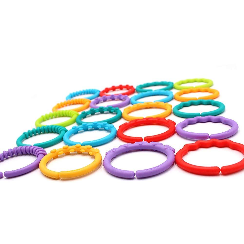 Rocita - Anillos mordedores de plástico Sensory, 24 Anillos ...