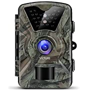 """Victure 1080P Full HD Wildlife Trail Camera Trap 12MP Infrared Cam with Night Vision 120°Wide Angle Motion Activated 2.4"""" LCD Display for Outdoor Nature Garden Home Security Surveillance (FULL HD)"""