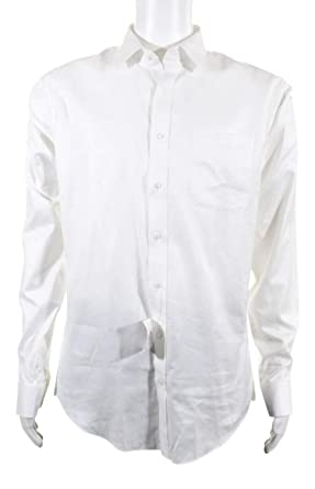 Nordstrom Mens Dress Shirt Size 16 White Trim Fit Button Down At