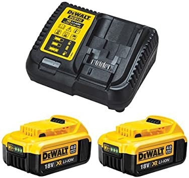 Dewalt DCB184 5.0ah 18 V XR Batterie Lithium-Ion Double Pack DCB115 Chargeur