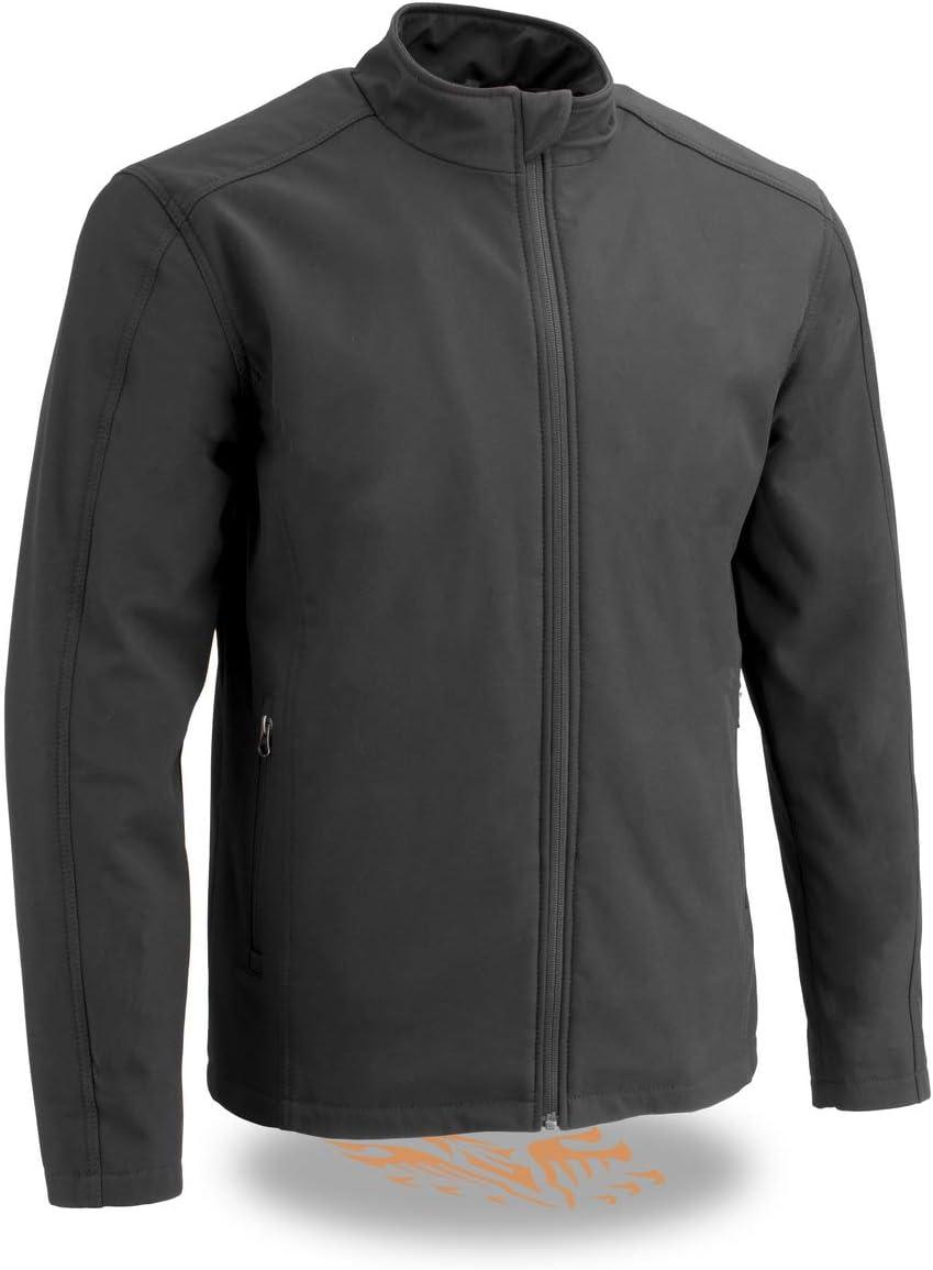 Milwaukee Leather MPM1763 Men's Black Waterproof Lightweight Soft Shell Jacket - 5X-Large